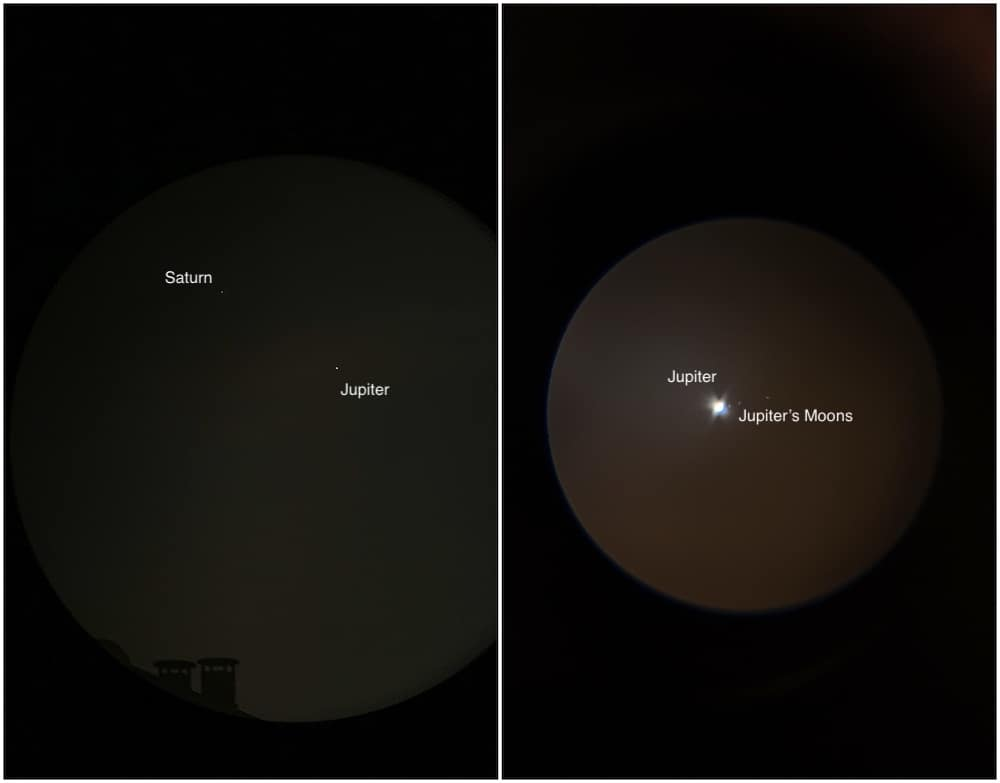 Jupiter-Saturn close conjunction