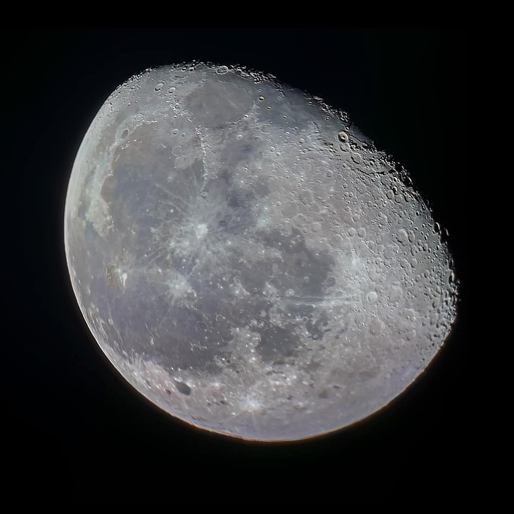 Moon with iPhone XR and Celestron C5
