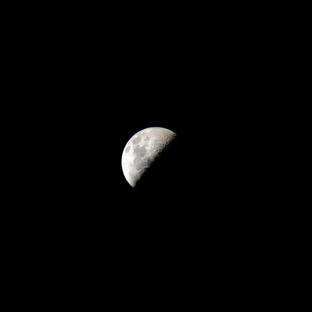 Moon with iPhone XR and Sky-Watcher Heritage 130P