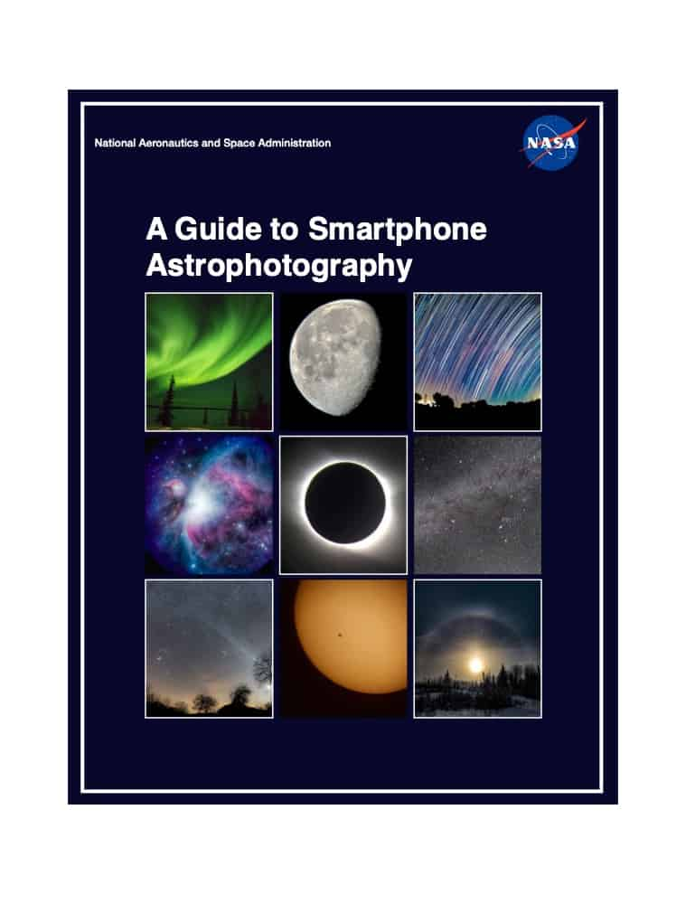NASA free e-book about astrophotography with a smartphone