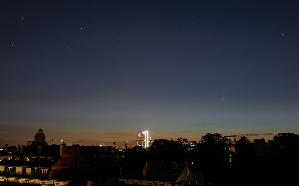 The Neowise Comet over Brussels