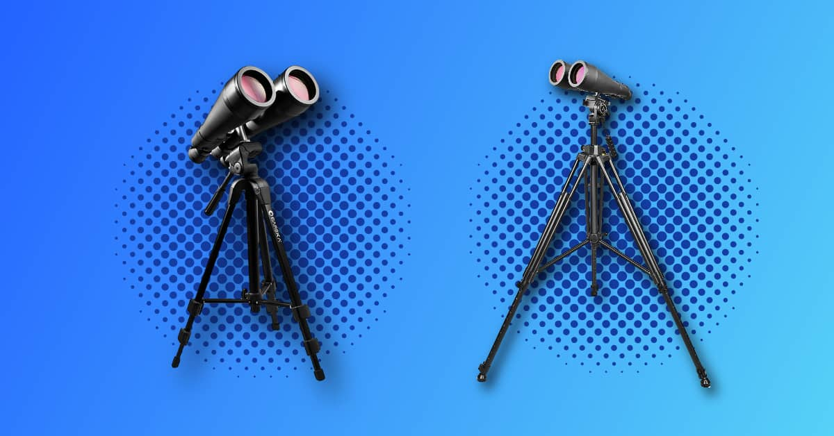 two types of binocular tripods