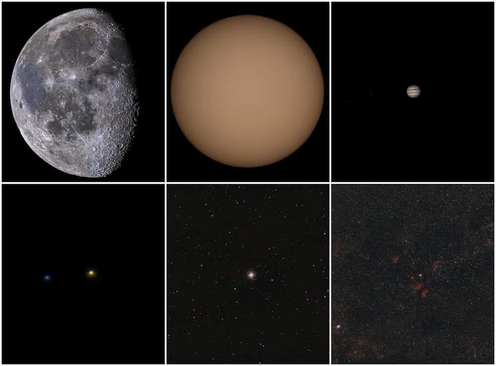 various types of city astrophotography targets