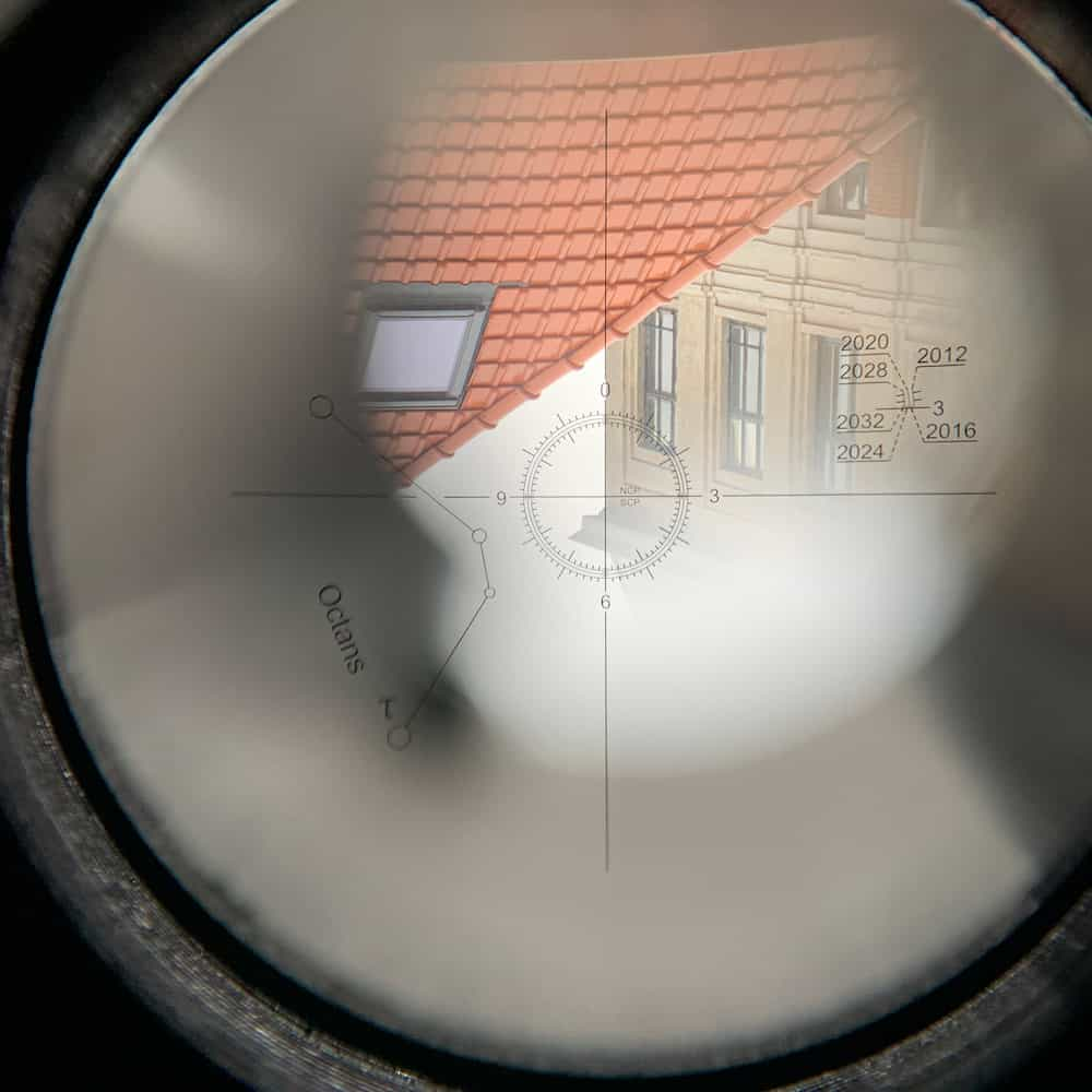 Testing the alignment of the reticle to the Meridian Indicator