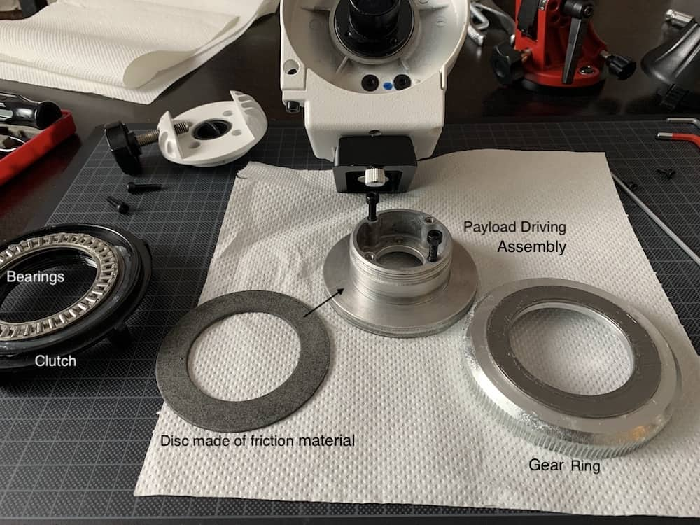 different parts forming the Clutch Assembly