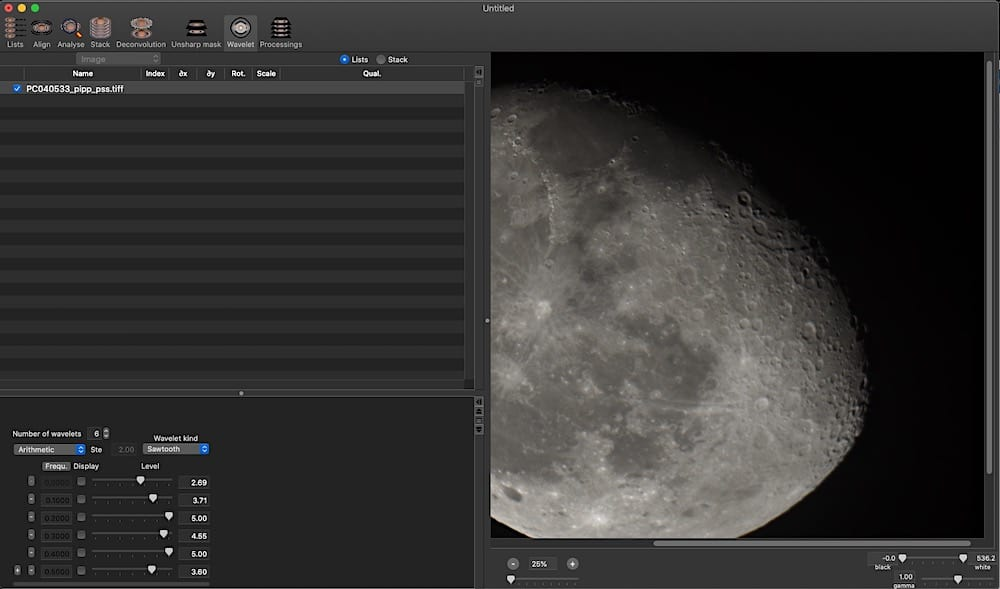 Lynkeos is the only native planetary stacker for Mac