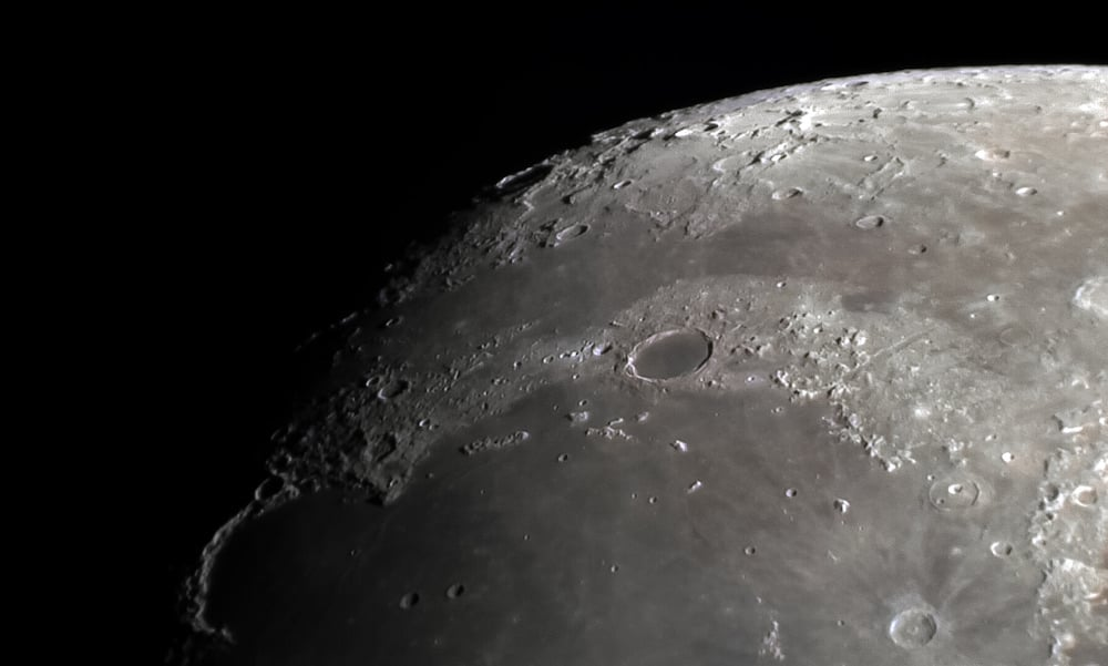 Plato moon crater