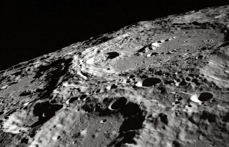 impact craters on the moon