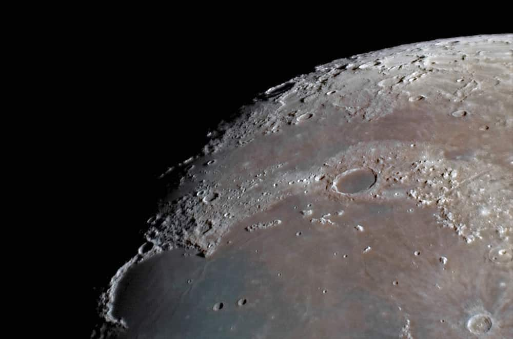 A close-up of the area of the moon