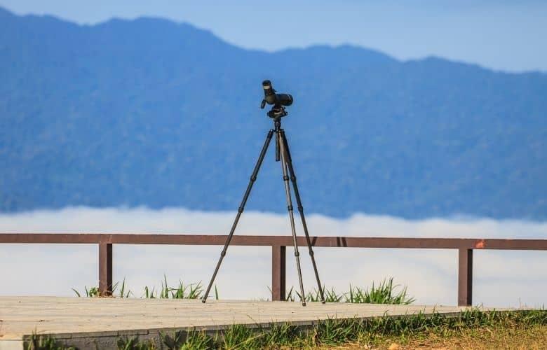 A full size spotting scope tripod
