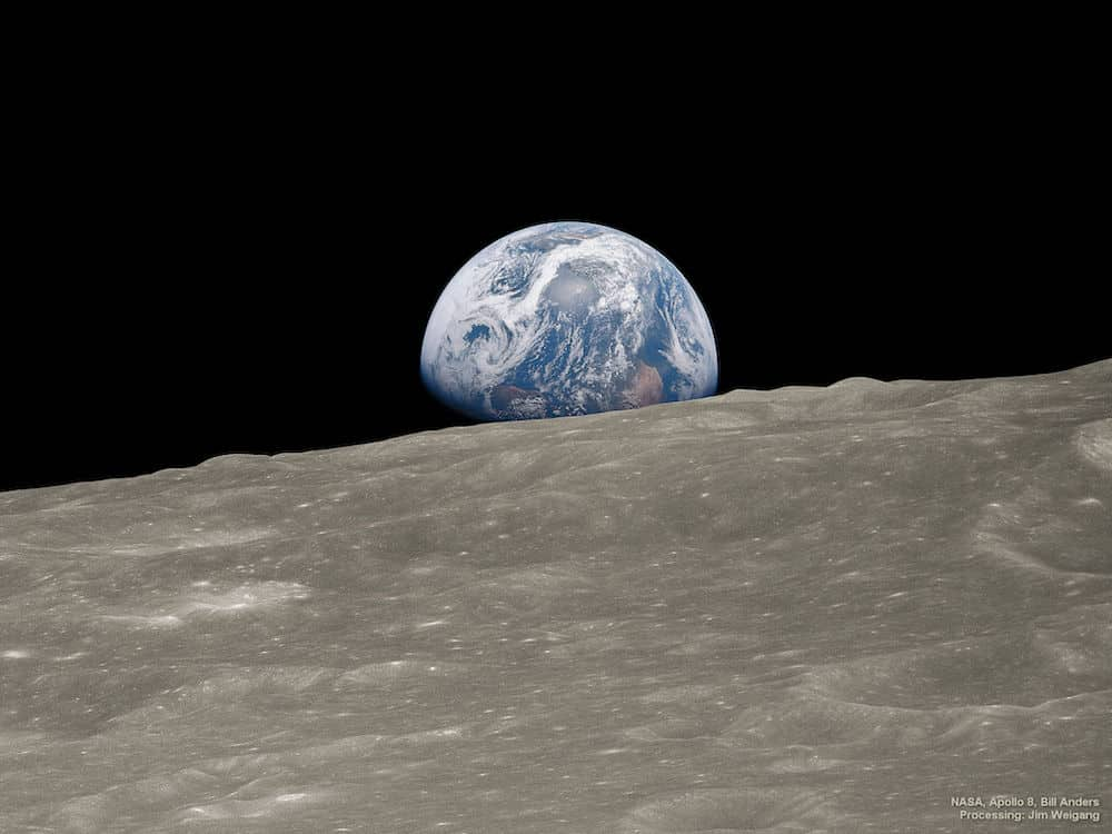 Earth's view from the Moon