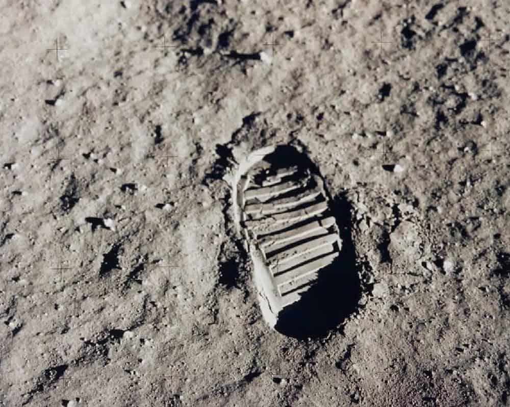 Footprint left on the Moon