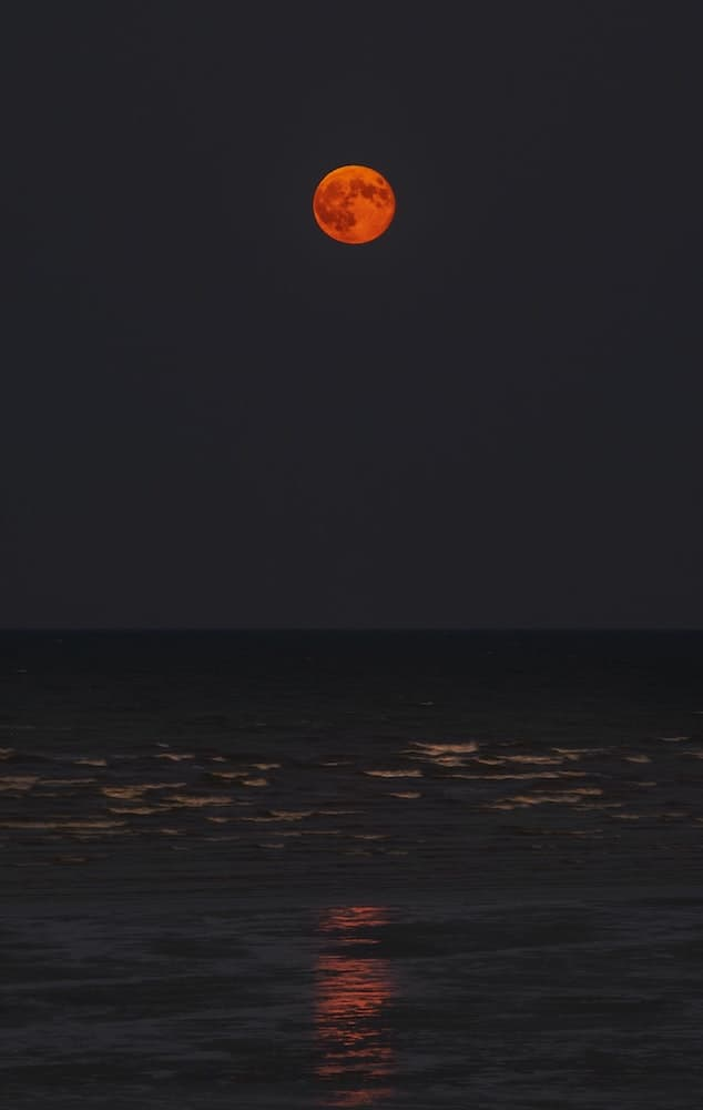 Full Moon rising above the sea