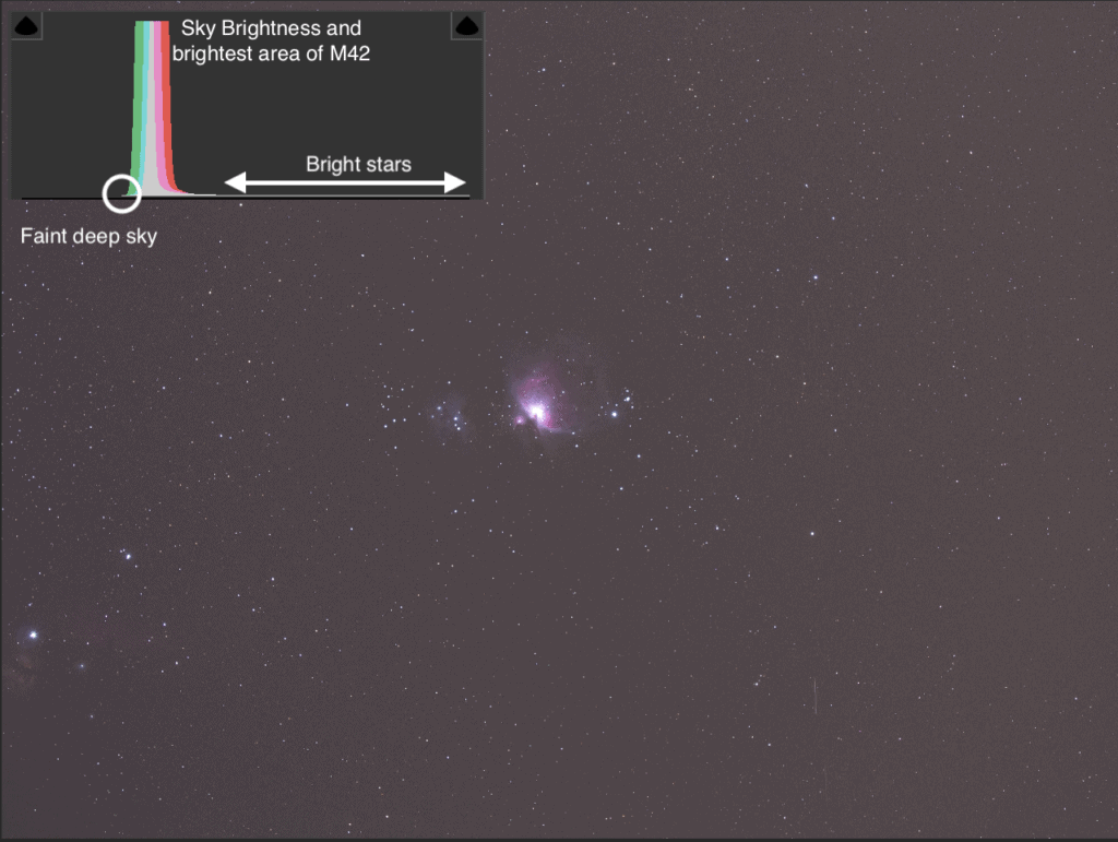 Single shot of M42 under Bortle 5 sky