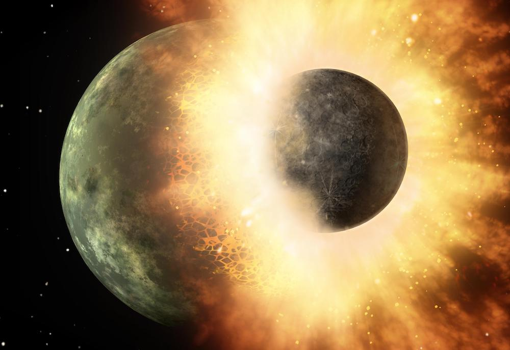 The Great Impact Between Theia and the Proto-Earth