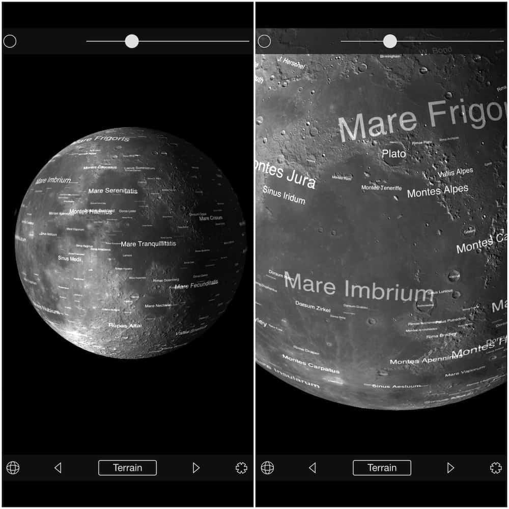 The Moon Globe App