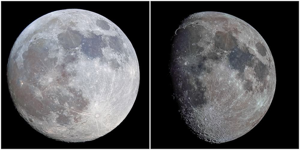 The Moon in Different Phases