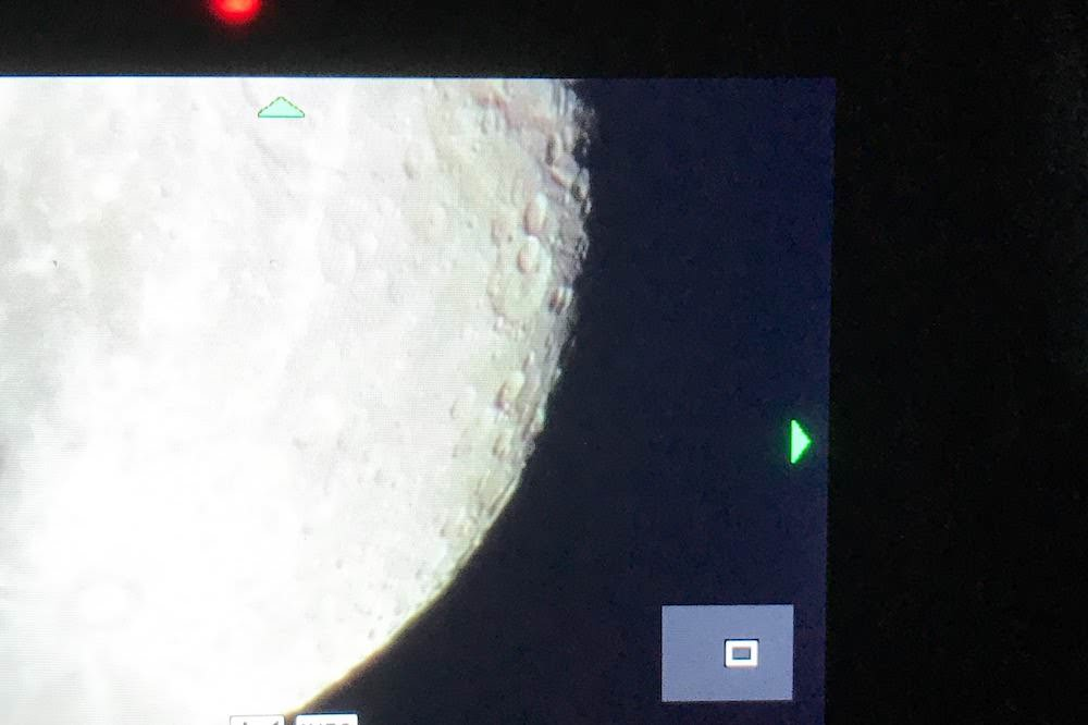 The Moon was almost full and the terminator was next to the edge