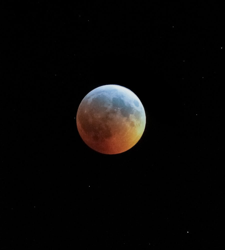 The Turquoise Effect is visible during a total lunar eclipse