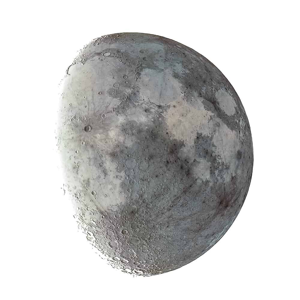 The lunar surface details are seen easily if you edited your Moon to create a mineral Moon