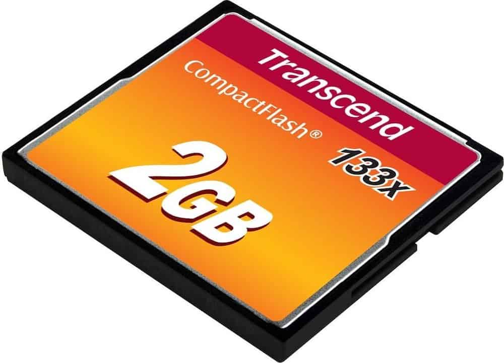 A Compact Flash Memory Card is now available in storage sizes of 4gb, 8gb, 16gb, 32gb, 64gb, 128gb, 256gb, 512gb, and 1tb.
