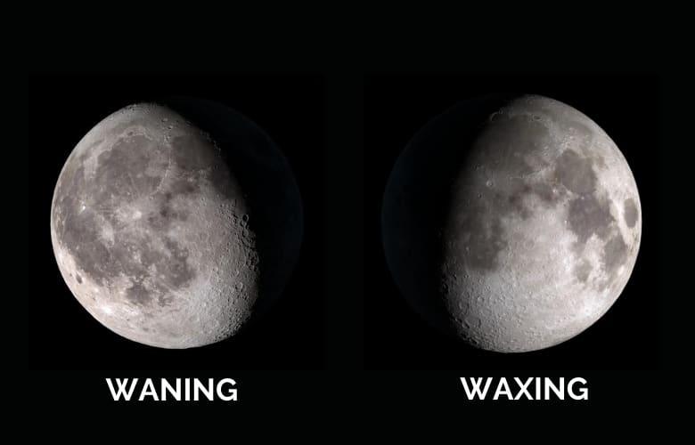 Waxing vs Waning Moon
