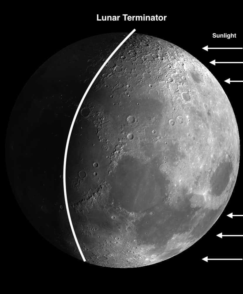 A lot of details on the lunar surface you can use to focus on