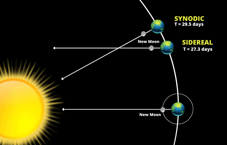 Sidereal and Synodic Month
