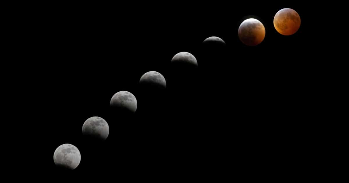 how the Moon travels through these different phases