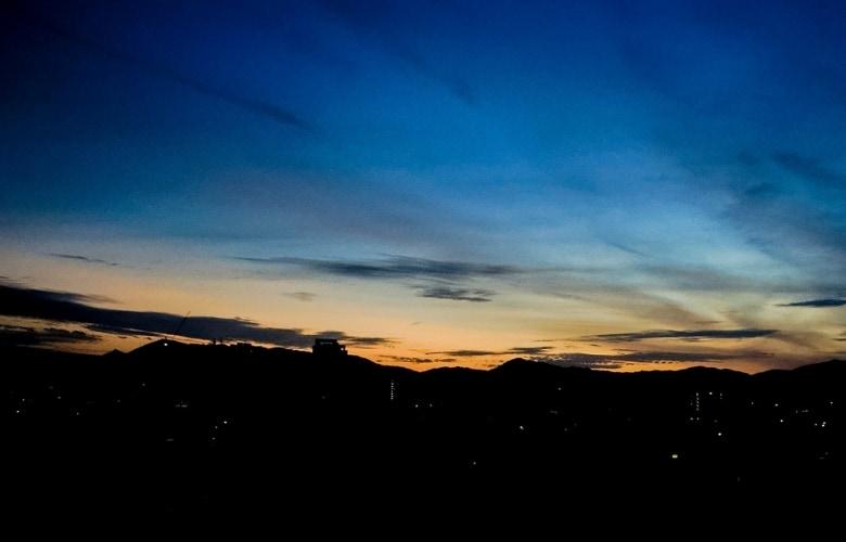 Civil twilight at Kuala Lumpur suburbs