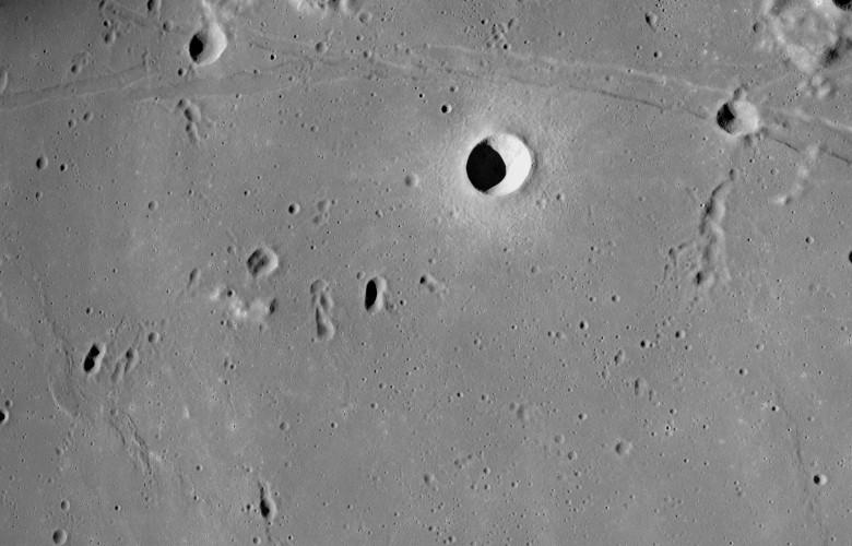 Sea of Tranquility near Apollo Landing Site 2
