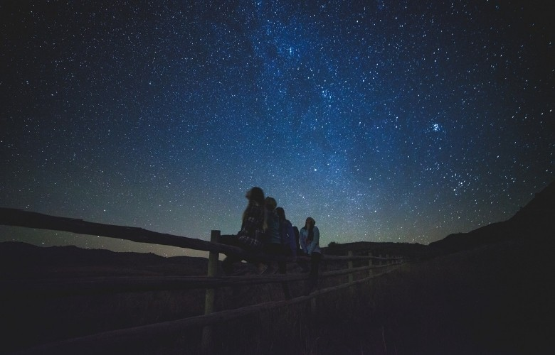 Stargazing after the sun sets