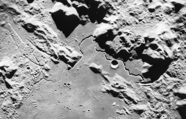 View of Hadley-Apennine area as photographed by Apollo 15