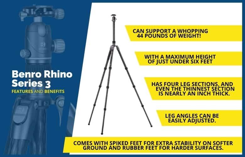 Benro Rhino Series 3 Features
