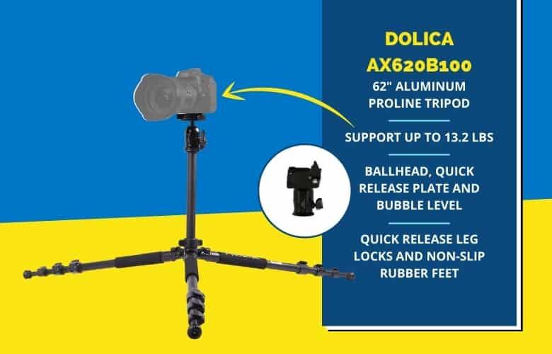 Dolica AX620B100 Tripod features