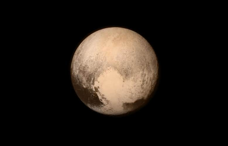Pluto nearly fills the frame in this image from NASA New Horizons spacecraft.