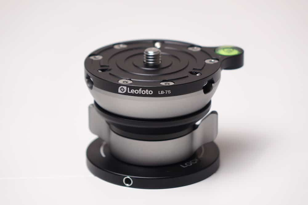 The Leofoto LB-75 leveling base is a nice accessory for the Az-GTI.