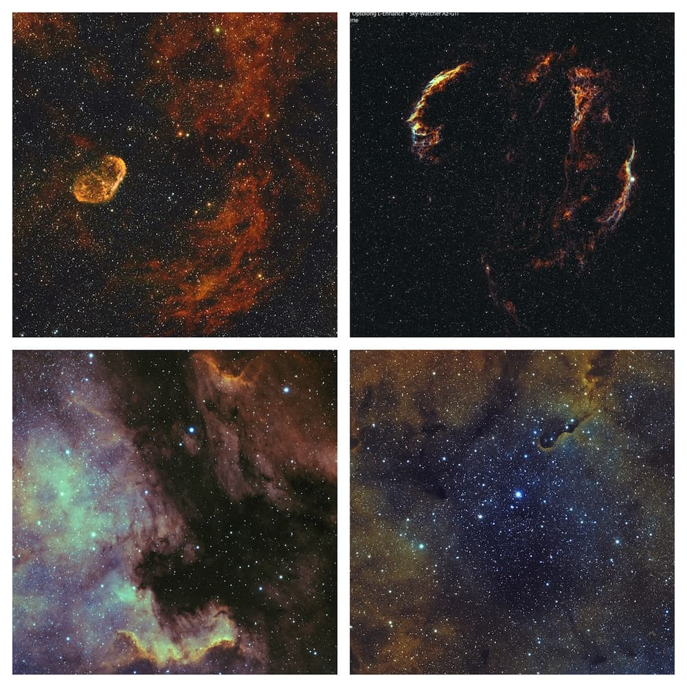 A few summer Nebulae captured using the Evoguide 50ED and the Samyang 135 f2.