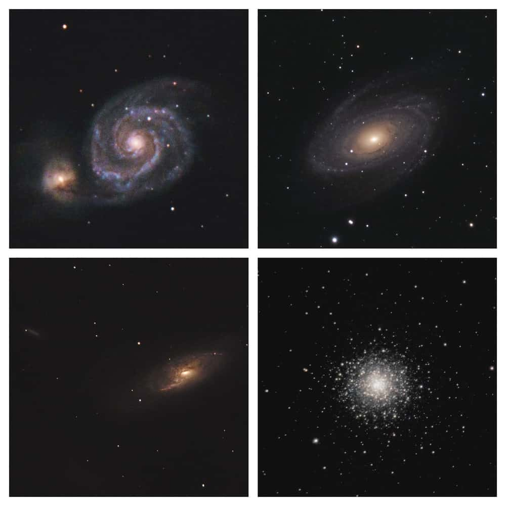 Galaxies And Star Clusters at 900mm with the C5 reduce.