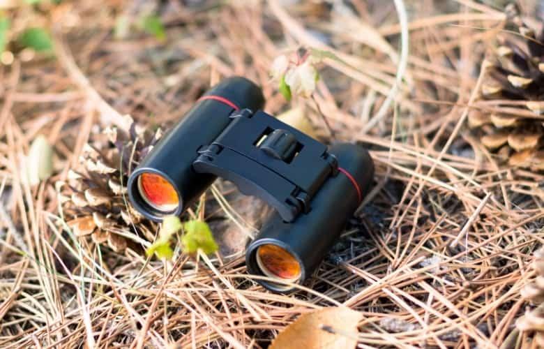A binocular was dropped unintentionally